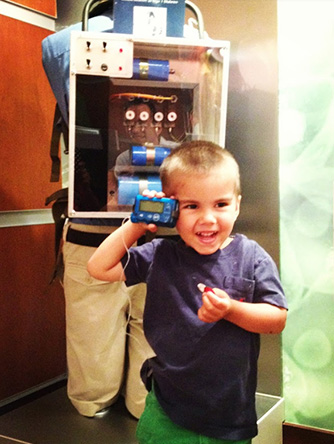 Anthony with insulin pump